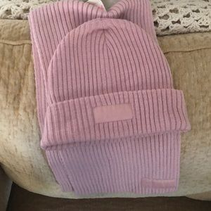 Victoria secret hat and scarf set